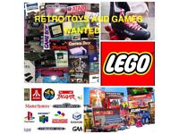 Wanted games & consoles collections from Atari sega Nintendo Ps psp ds Xbox neo geo toys Lego comics