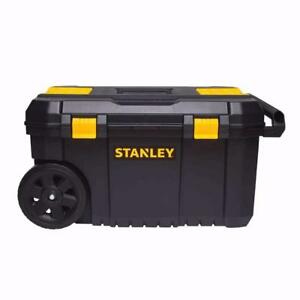 coffre stanley 50 litres sur roue et poigner de transport neufff