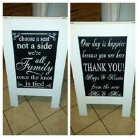 Sandwich board (wedding)