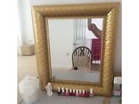 Beautiful golden mirror