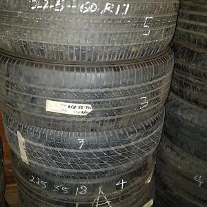 Two 225 60 17 tires for sale