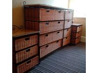 Bedroom furniture set compact and lightweight