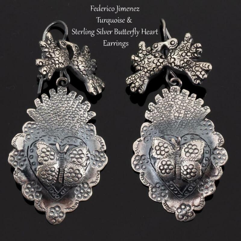 """FEDERICO JIMENEZ Earrings """"Milagro Butterfly"""" Sterling Silver FRIDA KHALO"""