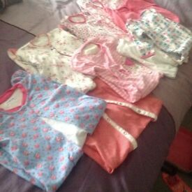 9 girls sleep suits age 12-18 months