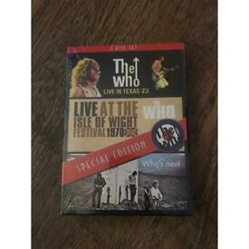The who three disc dvd unopened brand new