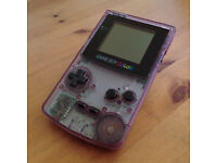 Gameboy color transparent purple with extras