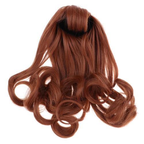Stilvolle lange lockige Welle Perücke Haarschnitt für 1/6 Blythe Doll