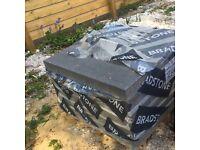 Bradstone stone master paving, dark grey