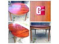 G-PLAN Extendable Solid wood Dinning table - LOCAL FREE DELIVERY