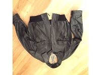 Burberry men's leather jacket, new, size 54