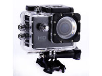 New Grey 1080p Action Sports Camera 30m Waterproof HD & Mounting DV Cam!