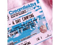 Creamfields 4 day standard camping with bus