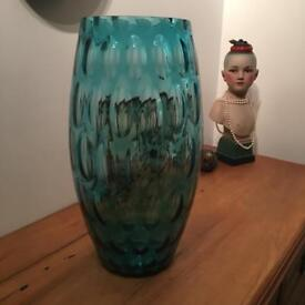 Fab retro 60's Sklo Union Borse Vase