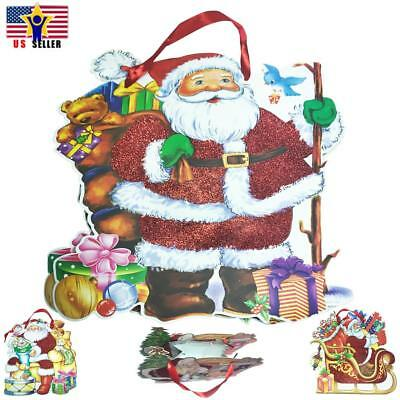 Paper Bag Reindeer (Rudolph Santa Snowman Reindeer Christmas Xmas GIFT Wrap Paper BAG Tote)