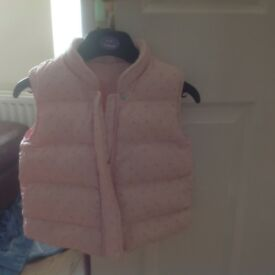 Pink padded gilet age 11/2-2 years