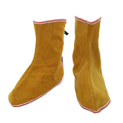 1 Pair Leather Welding Spats Welding Protective Shoes Feet Cover For Welder