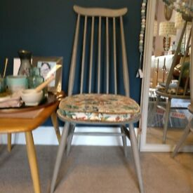 Ercol goldsmith chairs painted in Annie Sloan French linen six available