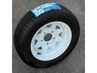 BRAND NEW WHEEL AND TYRE 165x70xR13 for Paxton or Apache trailer