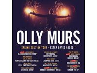 2x Olly Murs standing tickets, Echo Arena Liverpool, Thursday 16th March 2017