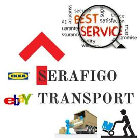 Man and Van removals-SERAFIGO TRANSPORT-IKEA Croydon delivery-house clearance - cheapest in London