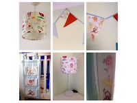 Nursery Animal Themed Bundle Baby Childrens Kids Bedroom Curtains Light Furniture