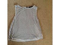 Size 14 Black/White Gingham Vest