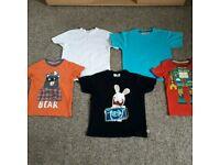 Boys T-Shirt Bundle Age 5-6 Years (5 Items)