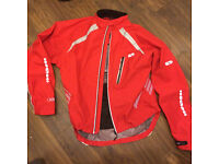 Men's Madison Stellar II Cycle Jacket large waterproof (RRP £80) + rolson lights and puncture kit