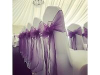 Wedding and event venue decor including chair covers, centrepieces, lanterns by Lily Special Events