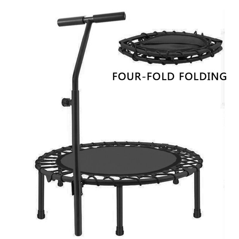 40in Mini Fitness Trampoline Rebounder Exercise Workout Fold