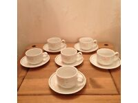 STEELITE CUPS AND SAUCERS