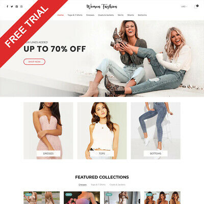 Women Fashion Shopify Dropshipping Store Automated Website Business For Sale