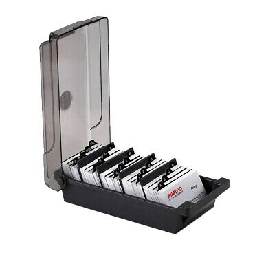 Office Supply Business Card Box File 4 Divider Boards A-z Guides Organizer