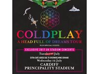 Coldplay Tickets Cardiff (seated) x 3
