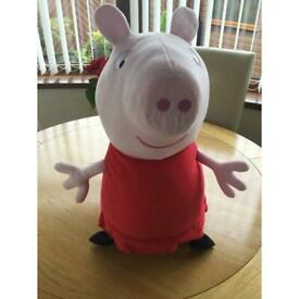 Peppa Pig plush toy in excellent condition size 2' high