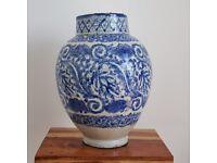 Antique XIX Century Moroccan Bleu de Fez Urn Vase