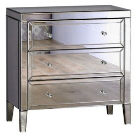 Valencia 3drawer chest mirrored