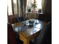 Extendable Dining Room Table and Four Chairs