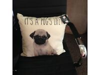 Pug pillow coushin new with tags