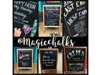 Chalkboard Artist blackboard Signwriter