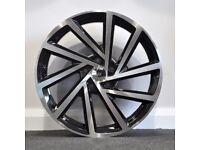 "18"" Golf-R Style Alloy wheels & Tyres. Suit A3,VW MK5,6,7, Golf, Caddy, Jetta, Passat, Seat (5x112)"