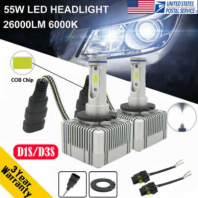 110W 26000LM D1S D3S Car LED Headlight Kit DRL Lamp High Low Beam Bulbs 6000K