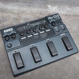 Korg Toneworks G3 multi-effects guitar pedal