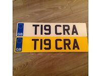 T19 CRA Cherished Private Personal Number Plate