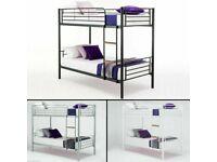 ⚡️Metal Furniture-- Single Metal Bunk Bed Frame W Optional Mattresses--⚡️Sale Offer.⚡️