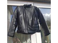Motorcycle Jacket - black leather