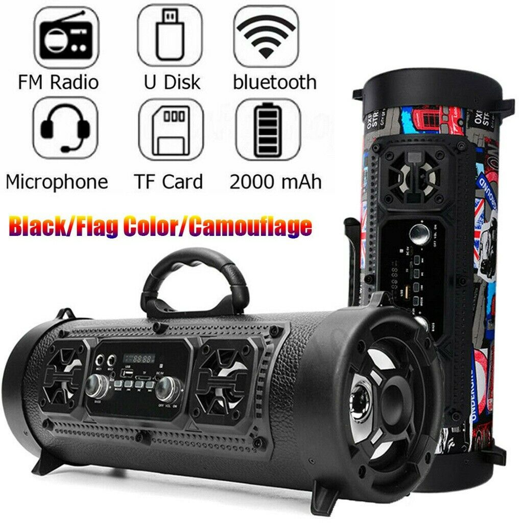 High Bass Ultra Loud Bluetooth Speakers Portable Wireless Speaker Outdoor/Indoor