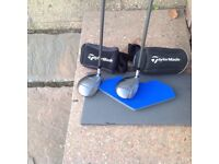 Taylormade 200 steel 3 and 5 woods