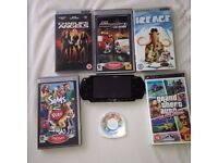 Sony PSP 2003 and Games and Movie Bundle. Piano Black, Great Condition, 4 Games, 2 Movies