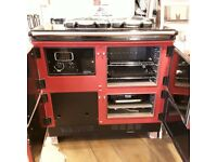 Rayburn 780kcd oil fired cooker in claret finish.